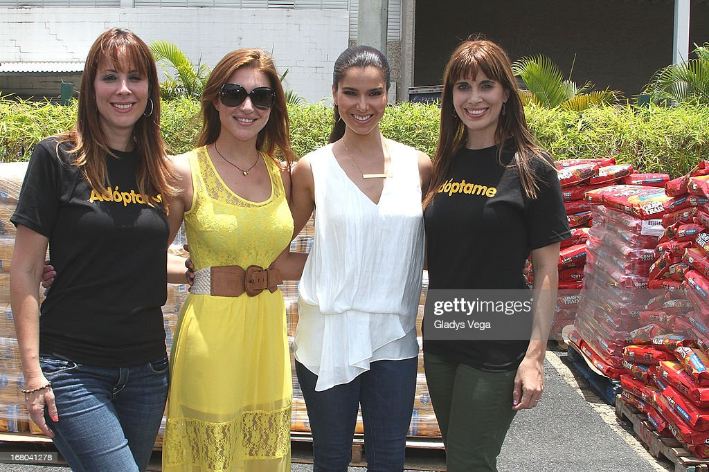 Haydee Rosario, Katiria Soto, <a gi-track='captionPersonalityLinkClicked' href=/galleries/search?phrase=Roselyn+Sanchez&family=editorial&specificpeople=202260 ng-click='$event.stopPropagation()'>Roselyn Sanchez</a> and Yarimar Marrero attend Pet SOS Food Drive at K Mart Plaza Las Americas on May 4, 2013 in San Juan, Puerto Rico.