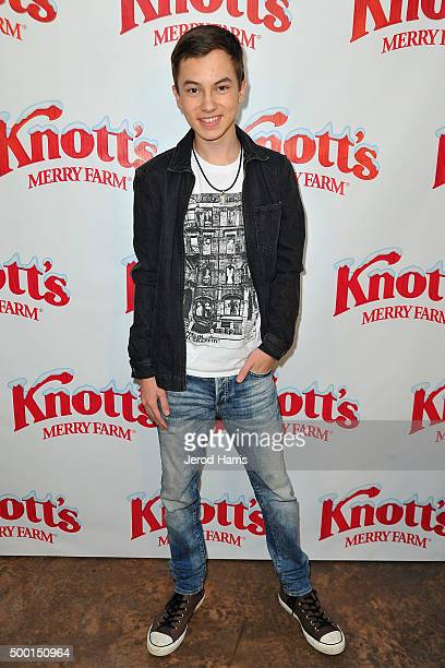 Hayden Byerly attends Knott's Merry Farm Countdown to Christmas Tree Lighting at Knott's Berry Farm on December 5 2015 in Buena Park California