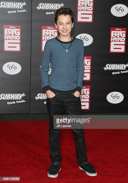 Hayden Byerly attends the Disney's 'Big Hero 6' Los Angeles Premiere held at the El Capitain Theater on November 4 2014 in Hollywood California