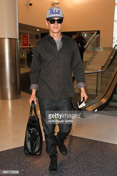 Hayden Christensen is seen at LAX on August 31 2015 in Los Angeles California