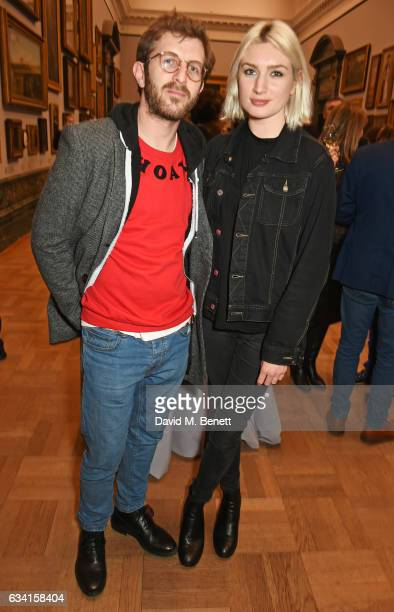Hayden Kays and Victoria Williams attend a private view of the David Hockney retrospective at the Tate Britain on February 7 2017 in London England