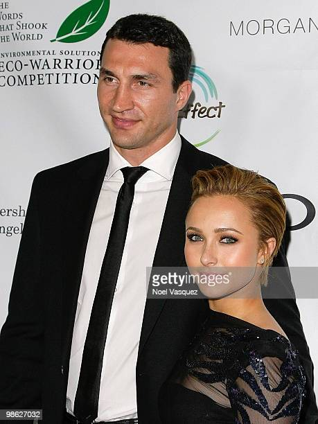 Hayden Panetierre and Vladimir Klitschko attend James Cameron's StarStudded Green Carpet VIP reception for Earth Day at the JW Marriott Los Angeles...