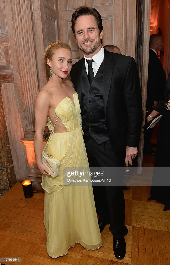 Hayden Panettiere and Charles Esten attend the Bloomberg & Vanity Fair cocktail reception following the 2013 WHCA Dinner at the residence of the French Ambassador on April 27, 2013 in Washington, DC.