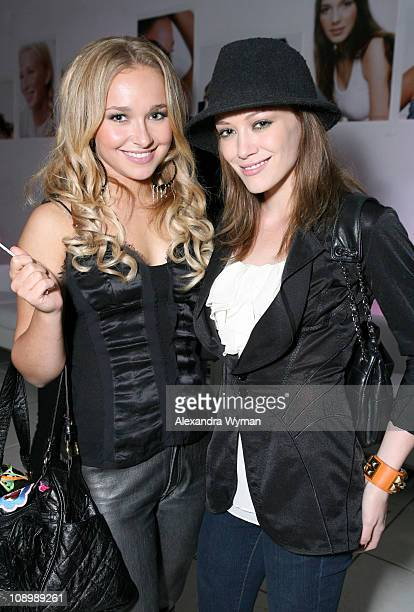Hayden Panettiere and Hilary Duff during Celebrity Makeup Artist Joanna Schlip Launches the JGurlz Fund and Her Book 'Glamour Gurlz' at The Gershwin...