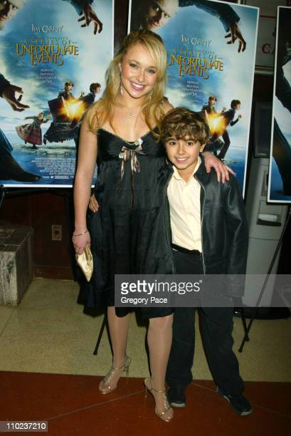 Hayden Panettiere and Jansen Panettiere during A Special Screening of 'Lemony Snicket's A Series Of Unfortunate Events' Inside Arrivals at Clearview...