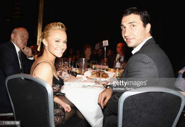 Hayden Panettiere and Vladimir Klitschko attend the Steiger Award 2011 at the Jahrhunderhalle on March 12 2011 in Bochum Germany