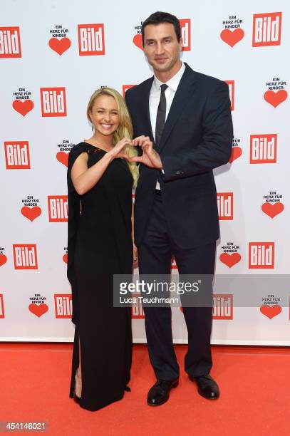 Hayden Panettiere and Wladimir Klitschko attend the Ein Herz Fuer Kinder Gala 2013 at Flughafen Tempelhof on December 7 2013 in Berlin Germany