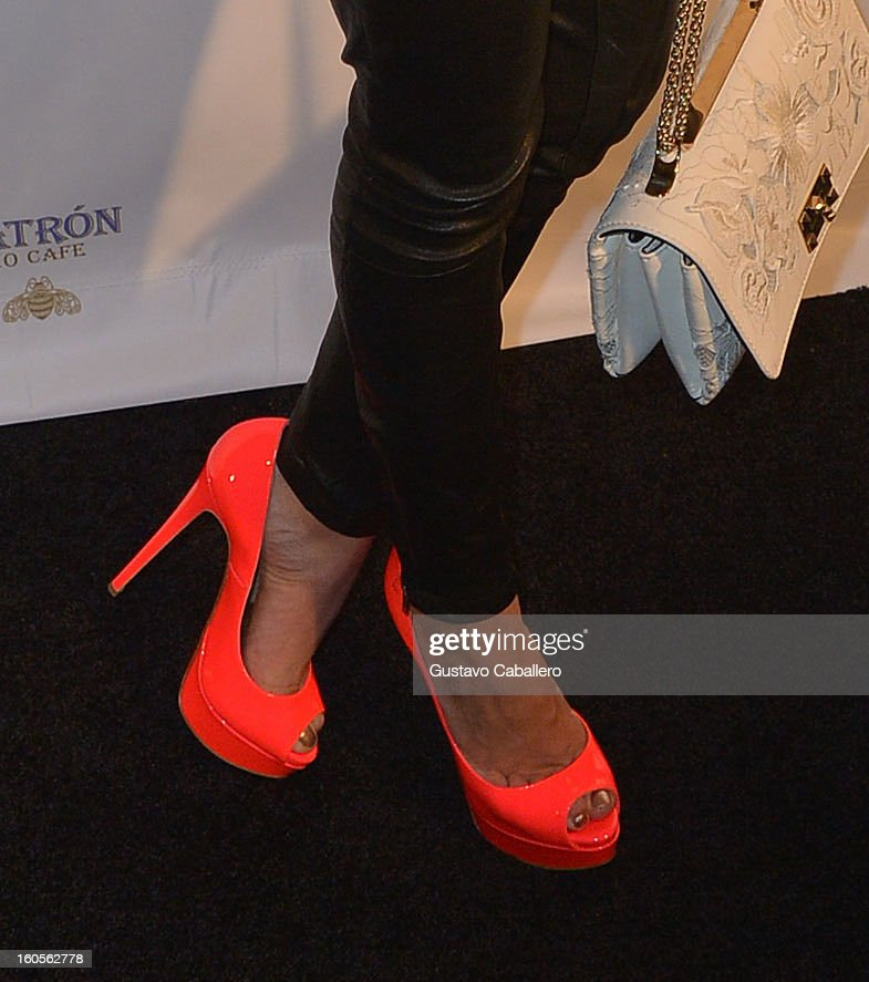Hayden Panettiere (shoe detail) attends the Super Bowl party sponsored by Lacoste and Mercedes-Benz at The Elms Mansion on February 2, 2013 in New Orleans, Louisiana.