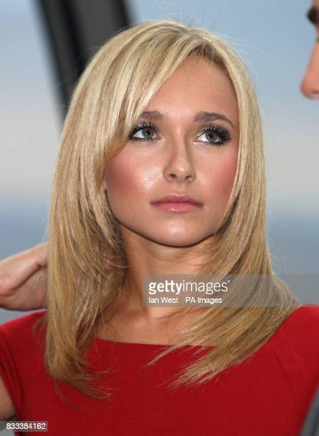 Hayden Panettiere from the cast of Heroes attending a photocall at 30 St Mary Axe in the City of London