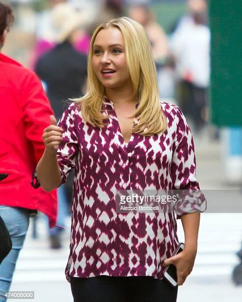 Hayden Panettiere is seen on film set of 'Custody' on May 19 2015 in New York City