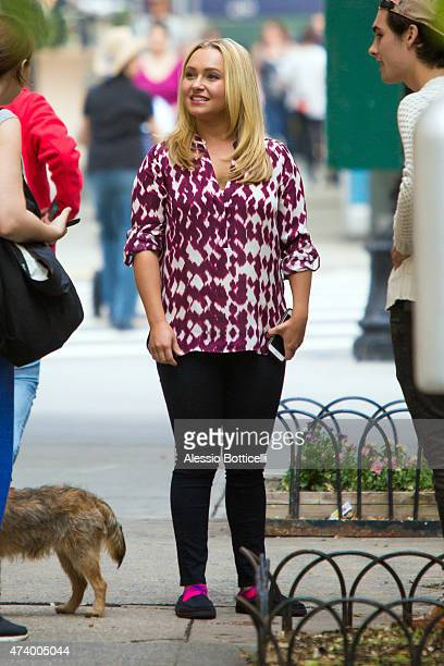 Hayden Panettiere is seen on film set of 'Custody' on May 19 2015 in New York City