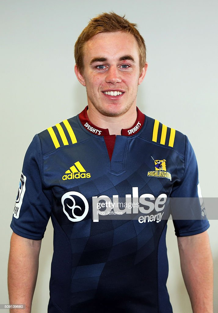 Hayden Parker of the Highlanders poses for a photo during a Highlanders portrait session on February 9, 2016 in Dunedin, New Zealand.