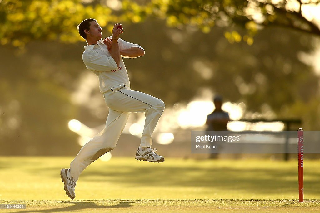 Hayden Parsons of Western Australia bowls during day one of the Futures League match between Western Australia and New South Wales at Richardson Park on October 14, 2013 in Perth, Australia.