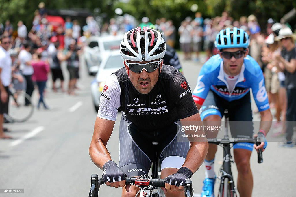 <a gi-track='captionPersonalityLinkClicked' href=/galleries/search?phrase=Hayden+Roulston&family=editorial&specificpeople=791949 ng-click='$event.stopPropagation()'>Hayden Roulston</a> of Christchurch leads the peloton up Cashmere Hill during the New Zealand Men's Road Cycling Championships at Pioneer Stadium on January 12, 2014 in Christchurch, New Zealand.