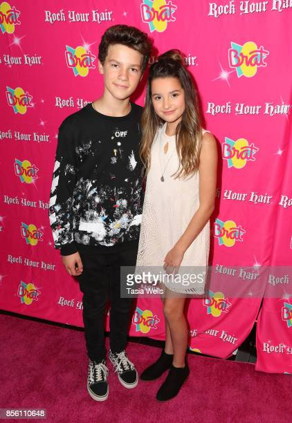 Hayden Summerall and Annie LeBlanc at Rock Your Hair Presents Rock Back to School concert and party on September 30 2017 in Los Angeles California