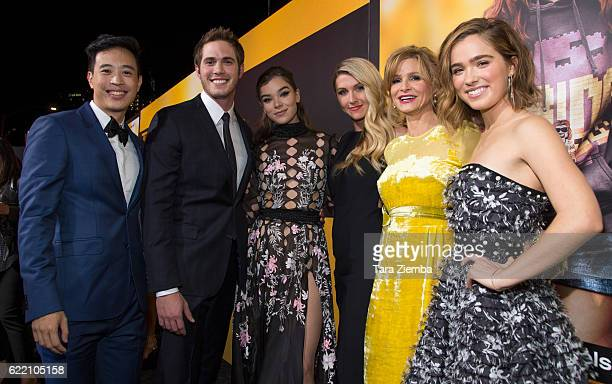 Hayden Szeto Blake Jenner Hailee Steinfeld Kelly Fremon Craig Kyra Sedgwick and Haley Lu Richardson attend the screening of STX Entertainment's 'The...