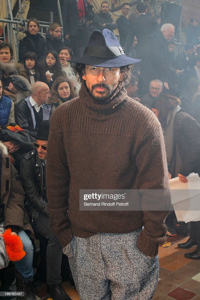 Hayder Ackerman attends the Lanvin Men Autumn / Winter 2013 show at Ecole Nationale Superieure Des Beaux-Arts as part of Paris Fashion Week on January 20, 2013 in Paris, France.