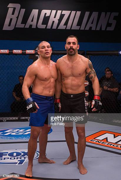 Hayder Hassan and Felipe Portela wait to hear the results during the filming of The Ultimate Fighter American Top Team vs Blackzilians on February 19...