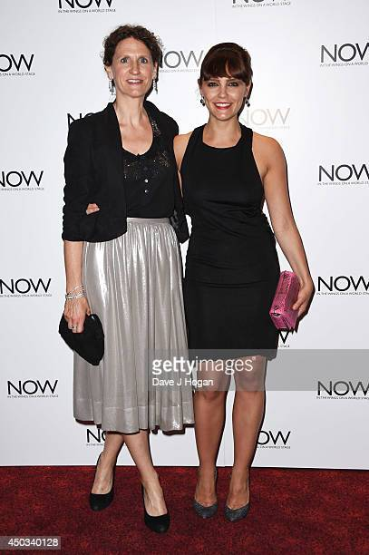 Haydn Gwynne and Annabel Scholey attend the European premiere of 'Now' at The Empire Leicester Square on June 9 2014 in London England
