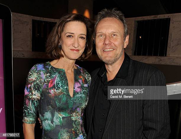 Haydn Gwynne and Anthony Head attend The Old Vic's 24 Hour Celebrity Gala after party at Rosewood London on November 24 2013 in London United Kingdom