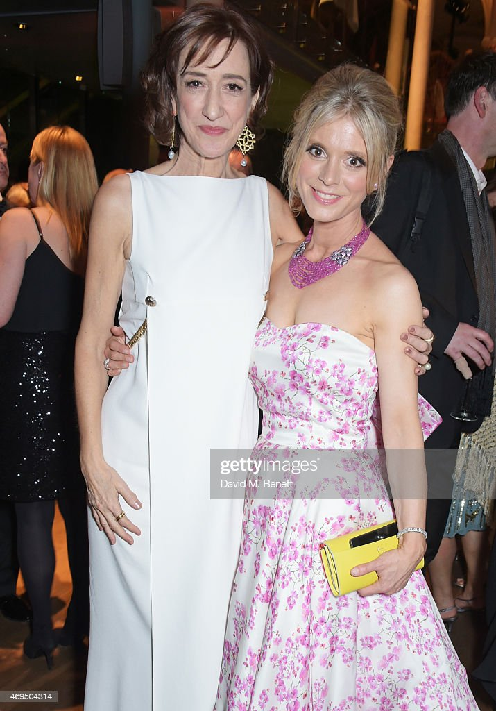 Haydn Gwynne and Emilia Fox attend The Olivier Awards after party at The Royal Opera House on April 12 2015 in London England