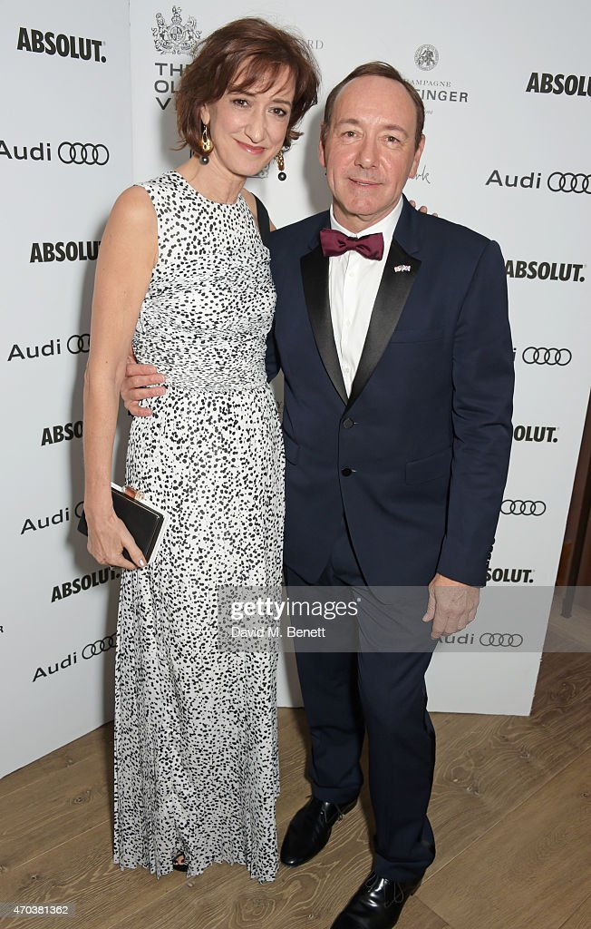 Haydn Gwynne and Kevin Spacey arrive at Ham Yard Hotel for the After Party of The Old Vic's A Gala Celebration in Honour of Kevin Spacey on April 19...