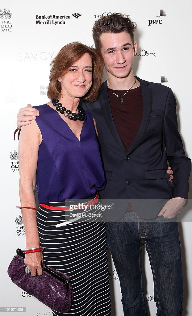 Haydn Gwynne and Orlando Phipps attend an after party following the press night performance of 'The Crucible' at The Savoy Hotel on July 3 2014 in...