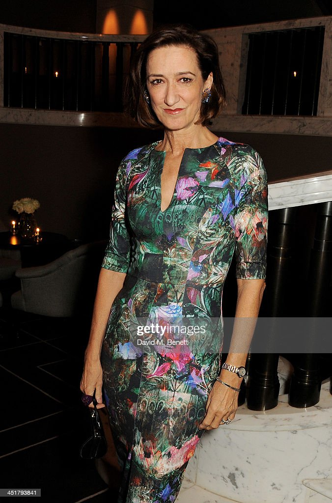 Haydn Gwynne attend The Old Vic's 24 Hour Celebrity Gala after party at Rosewood London on November 24 2013 in London United Kingdom