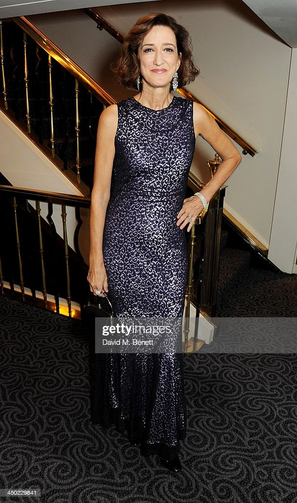 Haydn Gwynne attends a drinks reception at the 59th London Evening Standard Theatre Awards at The Savoy Hotel on November 17 2013 in London England