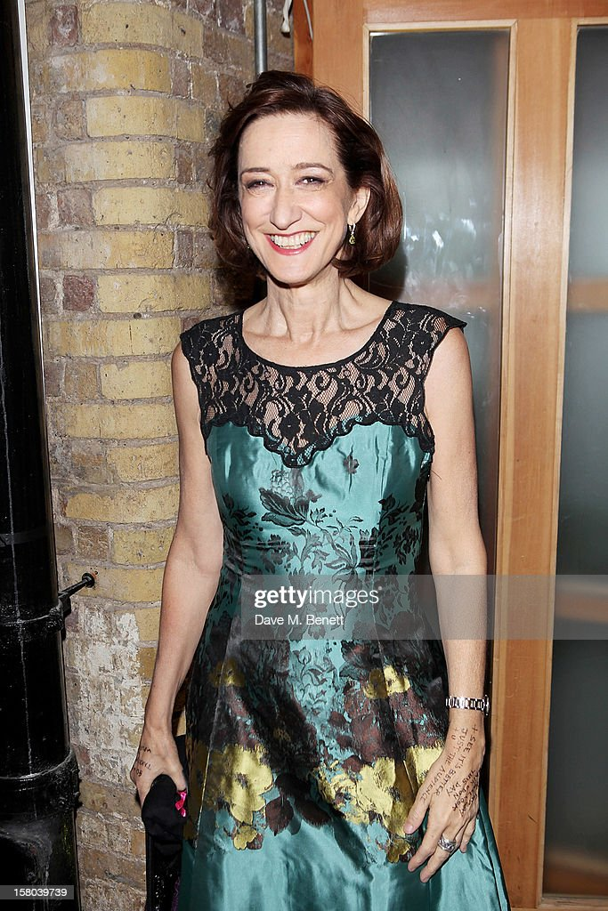 Haydn Gwynne attends an after party celebrating the 24 Hour Musicals Gala Performance at Vinopolis on December 9, 2012 in London, England.