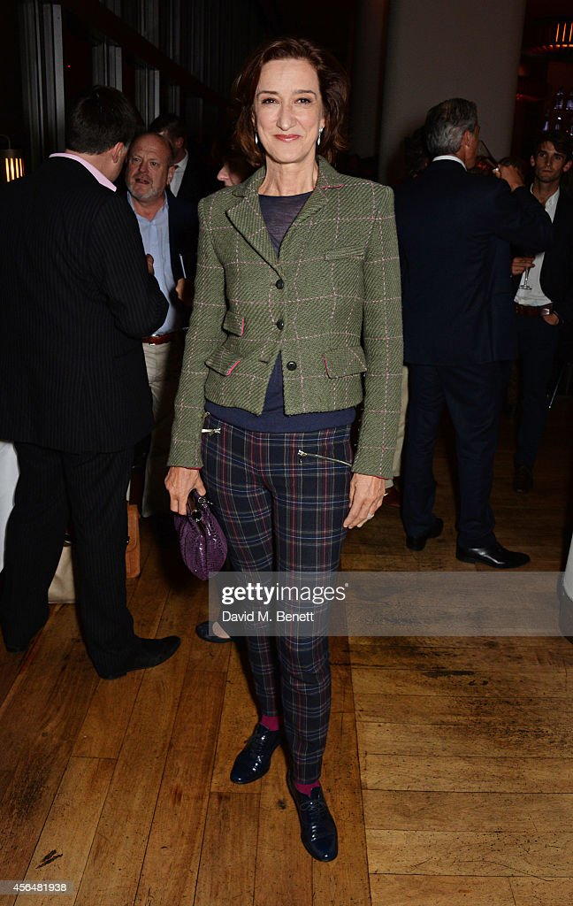 Haydn Gwynne attends an after party following the press night performance of 'Electra' playing at The Old Vic at Skylon Grill on October 1 2014 in...