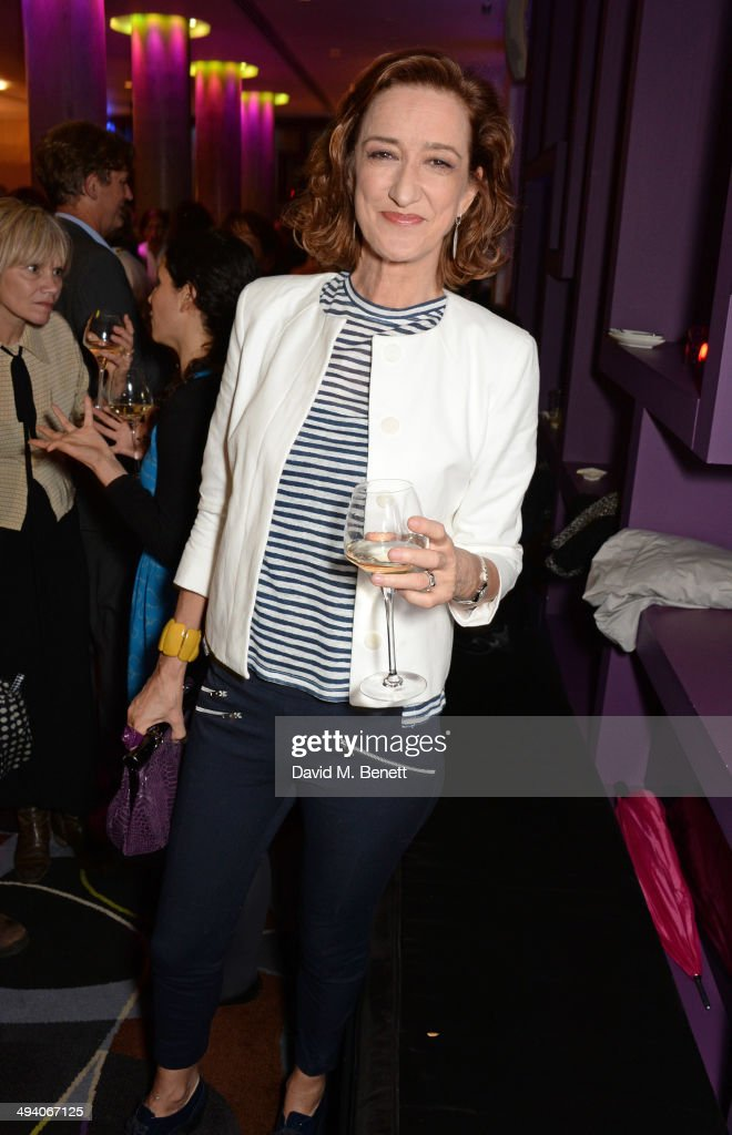 Haydn Gwynne attends an after party following the press night performance of 'Bakersfield Mist' at the Trafalgar Hotel on May 27 2014 in London...
