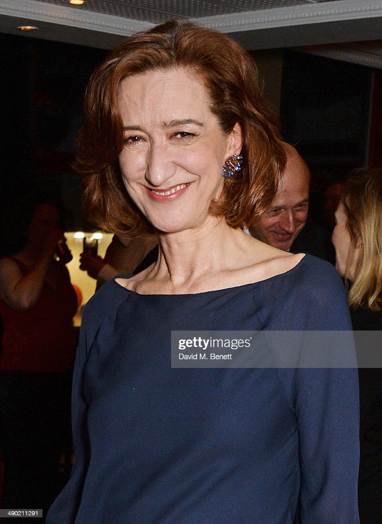 Haydn Gwynne attends an after party following the press night performance of 'The Pajama Game' at The Grange Hotel on May 13 2014 in London England