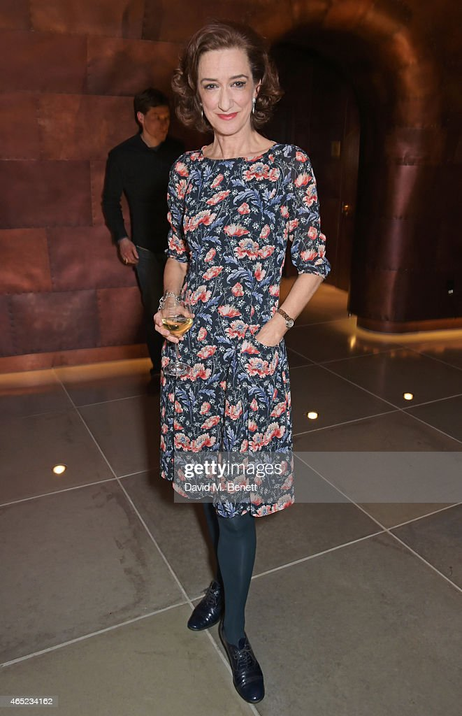Haydn Gwynne attends The Old Vic's Clarence Darrow Guest Night after party at Mondrian London on March 4 2015 in London England
