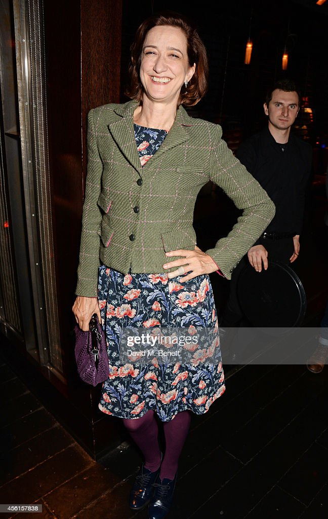 Haydn Gwynne attends the press night performance of 'Great Britain' following its transfer to the Theatre Royal Haymarket at Mint Leaf on September...