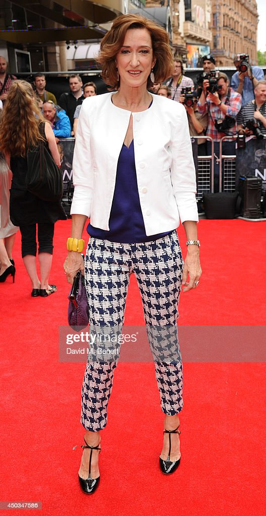 Haydn Gwynne attends the UK Premiere of 'Now' at Empire Leicester Square on June 9 2014 in London England