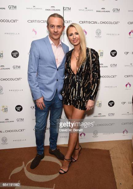 Haydn Isted and Naomi Isted attend the ICONIC PR LND and PerrierJouët art presention of works by Picasso Miro Matisse Chagall at QP LDN on March 16...