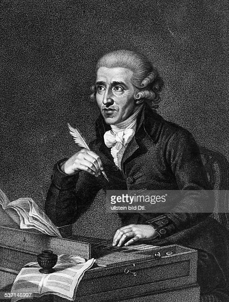 Haydn Joseph Komponist AT Portrait nach einem Stich von Luigi Schiavonet undatiert