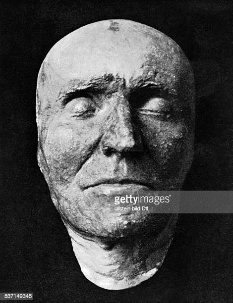 Haydn Joseph Komponist AT Totenmaske des Komponisten abgenommen von Elssler Aufbewahrungsort Wien undatiert