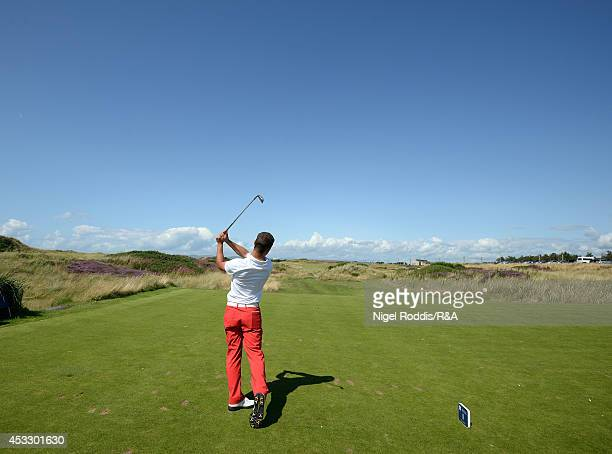 Haydn McCullen of England during the Boys Home International at Western Gailes Golf Club on August 7 2014 in Irvine United Kingdom