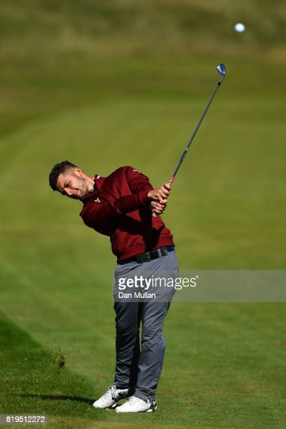 Haydn McCullen of England hits his second shot on the 2nd hole during the first round of the 146th Open Championship at Royal Birkdale on July 20...