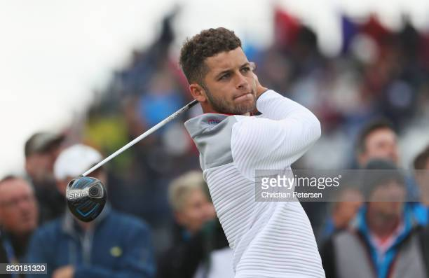 Haydn McCullen of England tees off on the 15th hole during the second round of the 146th Open Championship at Royal Birkdale on July 21 2017 in...