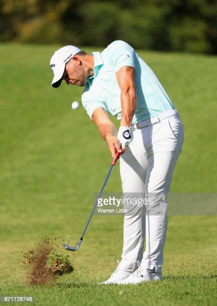 Haydn Porteous of South Africa in action during the pro am ahead of the Nedbank Golf Challenge at Gary Player CC on November 7 2017 in Sun City South...