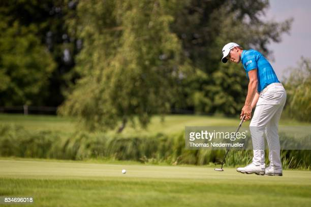Haydn Porteous of South Africa is seen during day two of the Saltire Energy Paul Lawrie Matchplay at Golf Resort Bad Griesbach on August 18 2017 in...