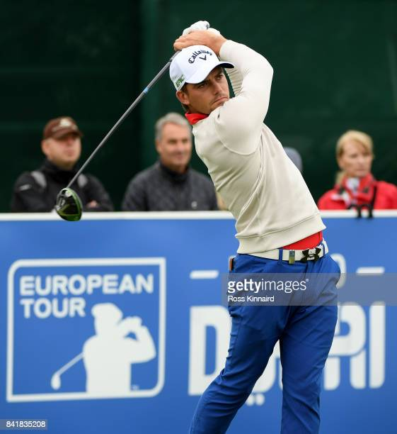 Haydn Porteous of South Africa on the first tee during the third round of the DD REAL Czech Masters at Albatross Golf Resort on September 2 2017 in...