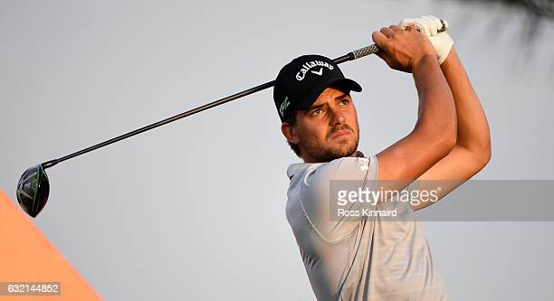 Haydn Porteous of South Africa on the second tee during the second round of the Abu Dhabi HSBC Championship at Abu Dhabi Golf Club on January 20 2017...