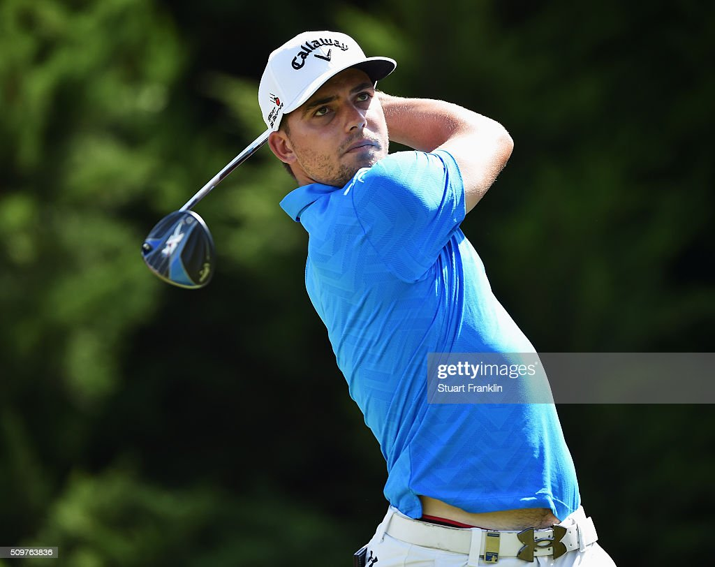 Haydn Porteous of South Africa plays a shot during the second round of the Tshwane Open at Pretoria Country Club on February 12, 2016 in Pretoria, South Africa.