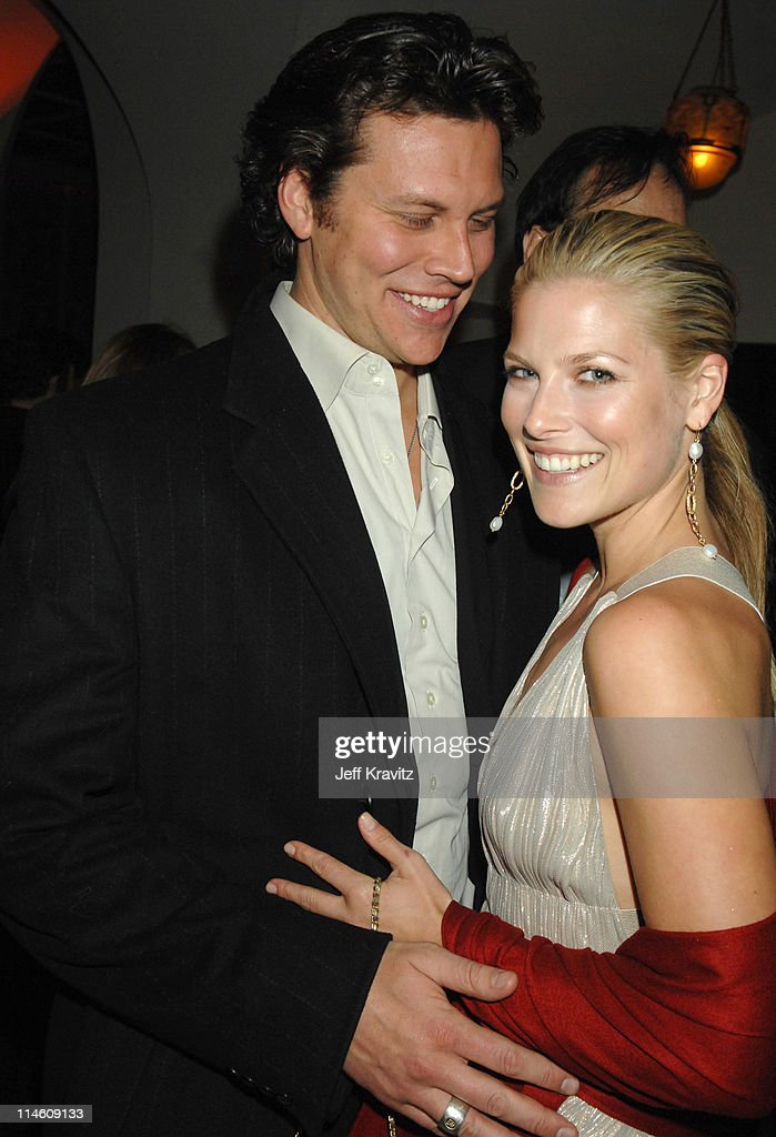 Hayes MacArthur and Ali Larter during HBO 2007 PreGolden Globes Party at Chateau Marmont in Los Angeles California United States