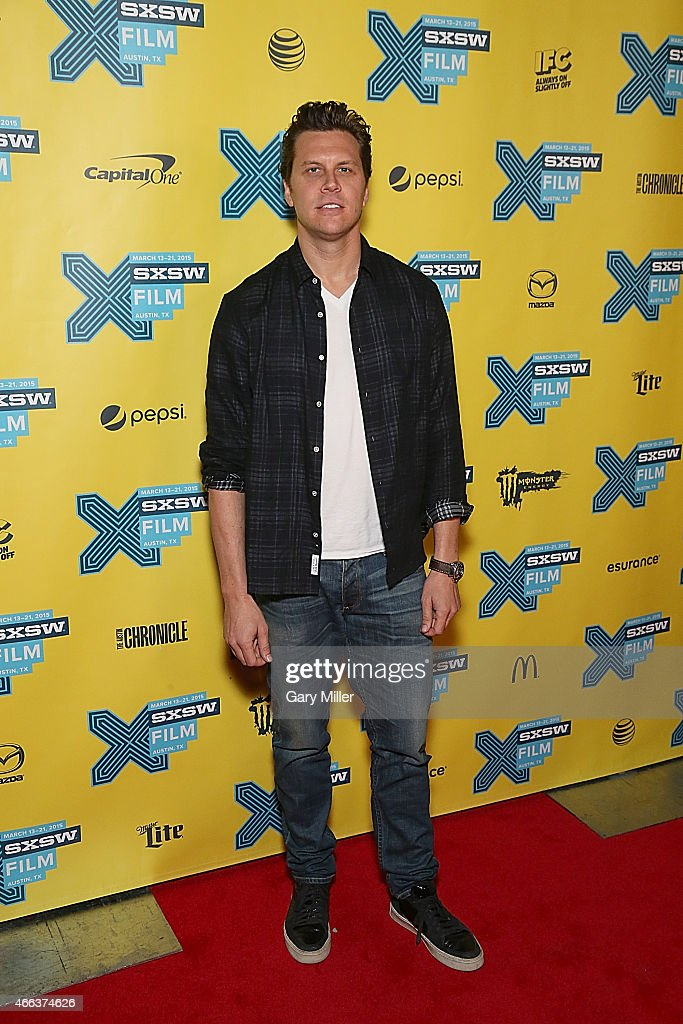 Hayes MacArthur poses on the red carpet for a screening of 'Angie Tribeca' at the Vimeo Theater during the South by Southwest Film Festival on March 14, 2015 in Austin, Texas.
