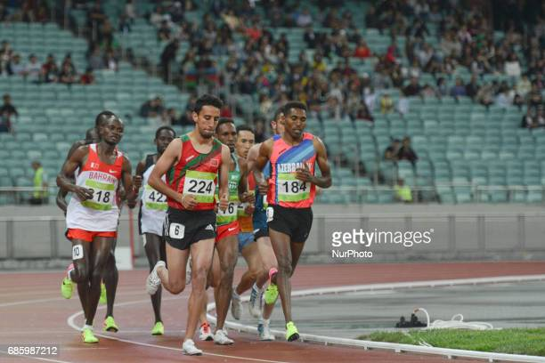 Hayle Ibrahimov of Azerrbaijan and BOUQANTAR Soufiyan Bouqantar of Morocco lead in Men's 10000m final during day five of Athletics at Baku 2017 4th...